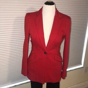 Boston Proper Red Blazer. Fitted Cut. Looks Great